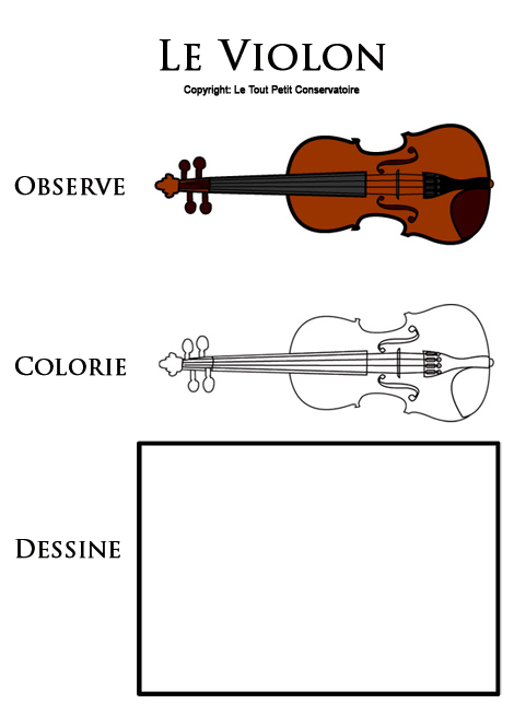 Coloriage d'un violon