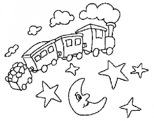 Coloriages mon amour pour les trains - Coloriage train a vapeur a imprimer ...