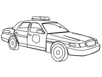 Coloriage gratuit des membres de jedessine camions et - Voiture de police coloriage ...