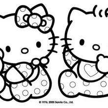 hello kitty - Coloriage - Coloriage ENFANT