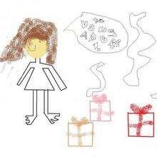 Dessin d'enfant : Mon anniversaire