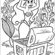 La petite Sirène+Hercule à Découper et à colorier - Coloriage - Coloriage GRATUIT - Coloriage GRATUIT des membres de Jedessine
