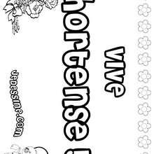 Hortense - Coloriage - Coloriage PRENOMS - Coloriage PRENOMS LETTRE H