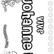 Johanne - Coloriage - Coloriage PRENOMS - Coloriage PRENOMS LETTRE J