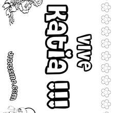 Katia - Coloriage - Coloriage PRENOMS - Coloriage PRENOMS LETTRE K