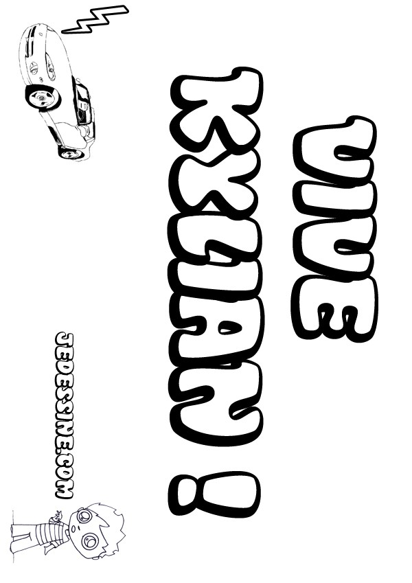 Coloriages kylian - Prenom a imprimer ...