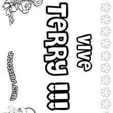 Terry - Coloriage - Coloriage PRENOMS - Coloriage PRENOMS LETTRE T