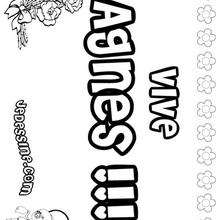 Agnès - Coloriage - Coloriage PRENOMS - Coloriage PRENOMS LETTRE A