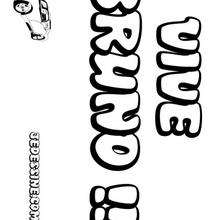 Bruno - Coloriage - Coloriage PRENOMS - Coloriage PRENOMS LETTRE B