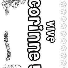 Corinne - Coloriage - Coloriage PRENOMS - Coloriage PRENOMS LETTRE C