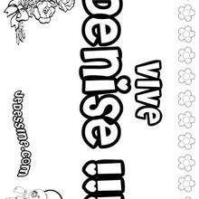 Denise - Coloriage - Coloriage PRENOMS - Coloriage PRENOMS LETTRE D