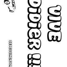 Didier - Coloriage - Coloriage PRENOMS - Coloriage PRENOMS LETTRE D