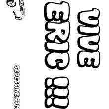 Eric - Coloriage - Coloriage PRENOMS - Coloriage PRENOMS LETTRE E