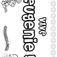 Eugénie - Coloriage - Coloriage PRENOMS - Coloriage PRENOMS LETTRE E