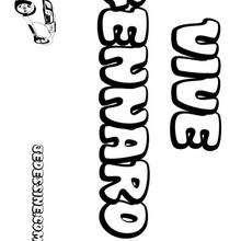 Gennaro - Coloriage - Coloriage PRENOMS - Coloriage PRENOMS LETTRE G