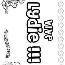 Lydie - Coloriage - Coloriage PRENOMS - Coloriage PRENOMS LETTRE L