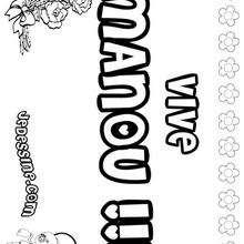 Manou - Coloriage - Coloriage PRENOMS - Coloriage PRENOMS LETTRE M