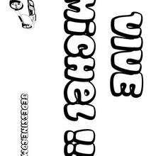 Michel - Coloriage - Coloriage PRENOMS - Coloriage PRENOMS LETTRE M