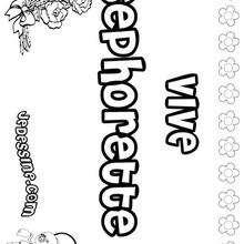 Sephorette - Coloriage - Coloriage PRENOMS - Coloriage PRENOMS LETTRE S