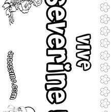Severine - Coloriage - Coloriage PRENOMS - Coloriage PRENOMS LETTRE S