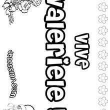 Valériele - Coloriage - Coloriage PRENOMS - Coloriage PRENOMS LETTRE V