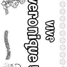 Veronique - Coloriage - Coloriage PRENOMS - Coloriage PRENOMS LETTRE V