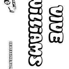 Williams - Coloriage - Coloriage PRENOMS - Coloriage PRENOMS LETTRE W