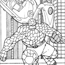Coloriage des héros protégés pa La Chose - Coloriage - Coloriage SUPER HEROS - Coloriage LES 4 FANTASTIQUES - Coloriage LA CHOSE