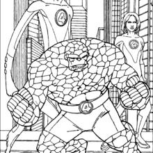 Coloriage des héros - Coloriage - Coloriage SUPER HEROS - Coloriage LES 4 FANTASTIQUES - Coloriage HEROS 4 FANTASTIQUES