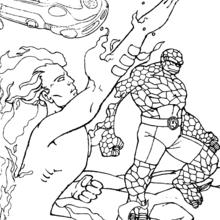 Coloriage des 4 fantastiques - Coloriage - Coloriage SUPER HEROS - Coloriage LES 4 FANTASTIQUES - Coloriage LES 4 FANTASTIQUES A IMPRIMER