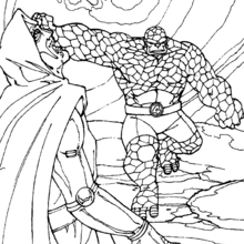 Coloriage de l'offensive des héros - Coloriage - Coloriage SUPER HEROS - Coloriage LES 4 FANTASTIQUES - Coloriage HEROS 4 FANTASTIQUES