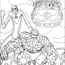 Coloriage de Mister Fantastic & La Chose - Coloriage - Coloriage SUPER HEROS - Coloriage LES 4 FANTASTIQUES - Coloriage MISTER FANTASTIC
