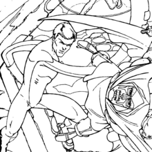 Coloriage du Mega coup de poing - Coloriage - Coloriage SUPER HEROS - Coloriage LES 4 FANTASTIQUES - Coloriage LES 4 FANTASTIQUES A IMPRIMER
