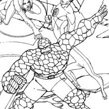 Coloriage des héros avant la tempête - Coloriage - Coloriage SUPER HEROS - Coloriage LES 4 FANTASTIQUES - Coloriage HEROS 4 FANTASTIQUES