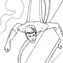 Coloriage de l'homme élastique - Coloriage - Coloriage SUPER HEROS - Coloriage LES 4 FANTASTIQUES - Coloriage HOMME ELASTIQUE