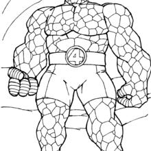 Coloriage : L'homme de pierre