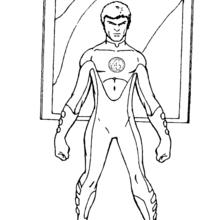 Coloriage de Mister Fantastic avant la bataille - Coloriage - Coloriage SUPER HEROS - Coloriage LES 4 FANTASTIQUES - Coloriage MISTER FANTASTIC