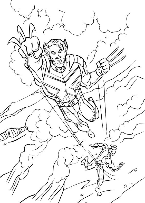 Coloriage X-men : Coloriage de Wolverine