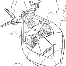 Coloriage de l'avion des x-men - Coloriage - Coloriage SUPER HEROS - Coloriage X-MEN - Coloriage AVION X-MEN