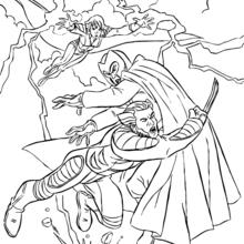 Coloriage de Tornade, Wolverine et Magneto - Coloriage - Coloriage SUPER HEROS - Coloriage X-MEN - Coloriage TORNADE