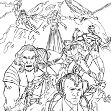 Coloriage de tous les X-men - Coloriage - Coloriage SUPER HEROS - Coloriage X-MEN - Coloriage X-MEN GRATUIT