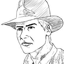 Coloriages coloriage indiana jones d 39 indiana jones et son for Indiana jones coloring pages