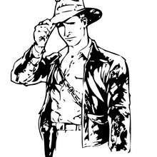Coloriage INDIANA JONES d'Indiana Jones - Coloriage - Coloriage FILMS POUR ENFANTS - Coloriage INDIANA JONES