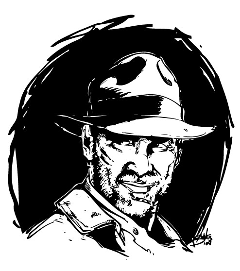 Coloriages coloriage indiana jones du portrait d 39 indiana - Coloriage indiana jones ...