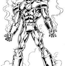 Coloriage de Iron man et sa super armure