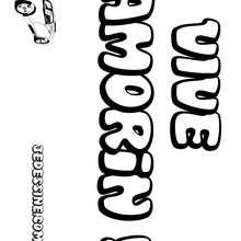Amorin - Coloriage - Coloriage PRENOMS - Coloriage PRENOMS LETTRE A