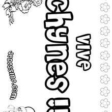 Chynes - Coloriage - Coloriage PRENOMS - Coloriage PRENOMS LETTRE C