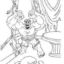 Coloriage du desespoir de Hulk
