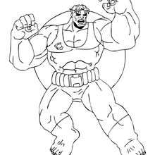 Coloriage de l''immense Hulk - Coloriage - Coloriage SUPER HEROS - Coloriage de HULK - Coloriage HULK GRATUIT