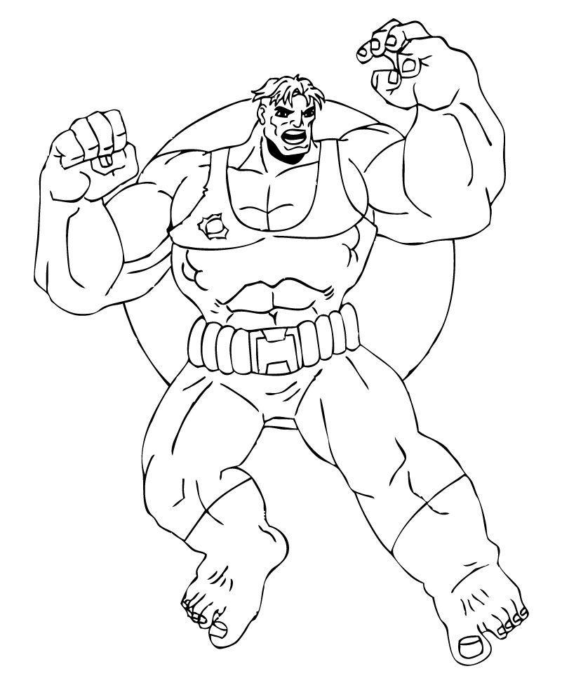 Coloriages coloriage de l 39 39 immense hulk - Coloriage hulk gratuit ...